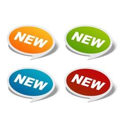 sale stickers set vector image vector image