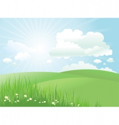 Summer landscape vector