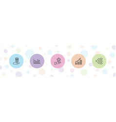 5 infographic icons vector