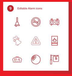 9 alarm icons vector