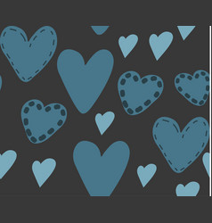 abstract seamless pattern of hearts vector image