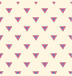 abstract triangles seamless pattern hand drawn vector image