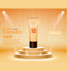 Bb cream or peeling scrub contained in tube vector