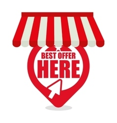 Best offer here online shopping vector