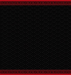 black chinese background with red border vector image