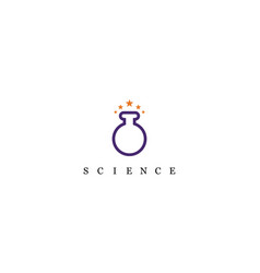 bottle lab star science logo vector image