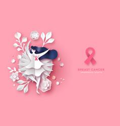 Breast cancer awareness web banner vector