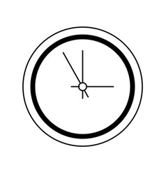 business clock timer hour break icon line vector image