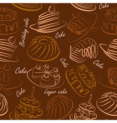 cakes seamless4 vector image