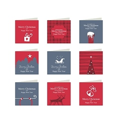 Christmas Mini Cards vector image