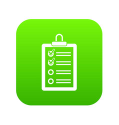 clipboard with to do list icon digital green vector image