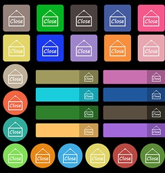 Close icon sign Set from twenty seven multicolored vector