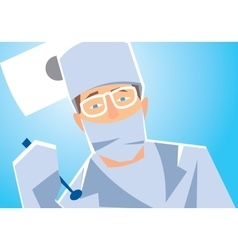 Close-up of a dentist vector