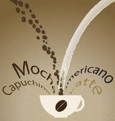 Coffee mix vector