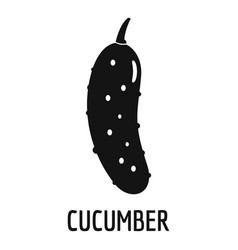 cucumber icon simple style vector image