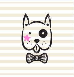 cute gentleman dog tshirt design vector image