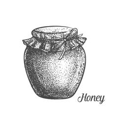 Decorative bank honey monochrom vector image
