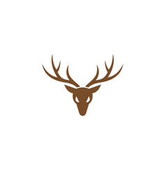 deer hunt with big horns logo design vector image