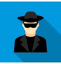 Detective icon flat style vector