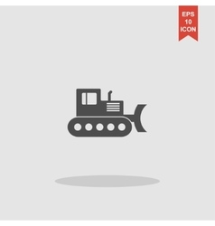 Excavator concept for design vector