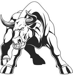 Ferocious bull vector