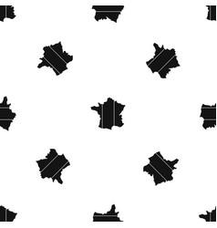 france pattern seamless black vector image