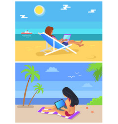 freelancer summer collection vector image