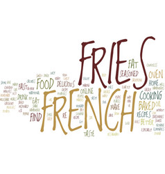Give me french fries with that shake text vector