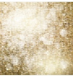 Golden mosaic background EPS 10 vector image