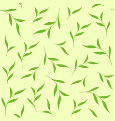 green leaves seamless pattern for tea package vector image