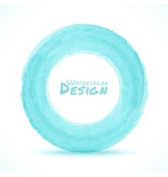 Hand drawn watercolor blue - green light circle de vector image