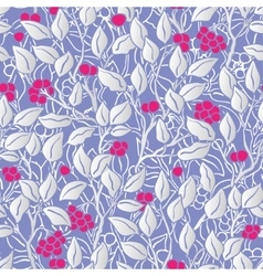 hand painted eaves seamless floral pattern vector image