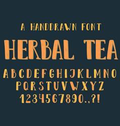 handdrawn inky sans serif alphabet vector image