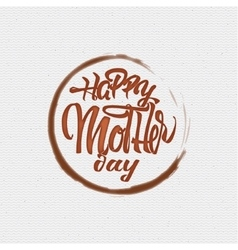 Happy Mothers Day - poster stamp badge insignia vector image vector image