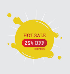 Hot sale 25 off vector