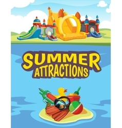 inflatable castles vector image