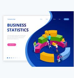 Isometric business analytics strategy vector
