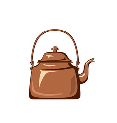 kettle isolated on white background vector image