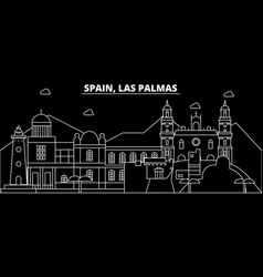Las palmas silhouette skyline spain - las palmas vector