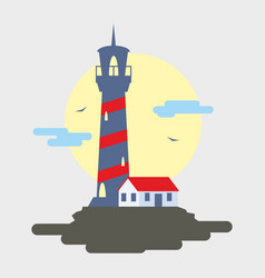 lighthouse flat lighthouse vector image