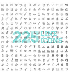Line arts icons set 225 linear icons vector
