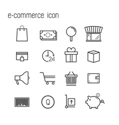 Line icons e-commerce icons modern infographic vector