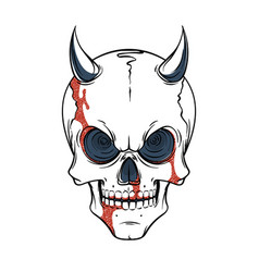 lined tattoo of skull vector image