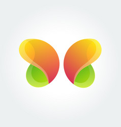 Logo design element butterfly creative vector