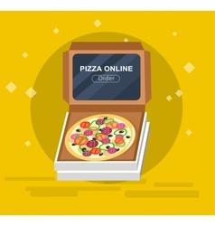 Online pizza order vector image
