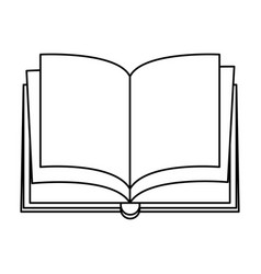 Open blank book icon image vector