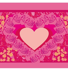 paper heart Valentines day card vector image