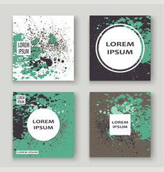 Pastel grey green explosion paint splatter vector