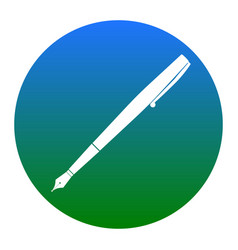 pen sign white icon in vector image