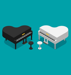 piano icon flat vector image